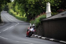 Thumbnail of Michael Dunlop during the final practice session of the 2008 TT