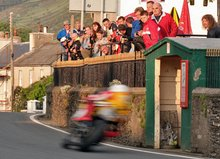 Thumbnail of Guy Martin on the Hydrex Honda during practice at the 2008 TT