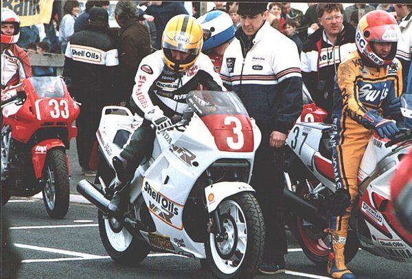 Joey at the North West 200 in 1987