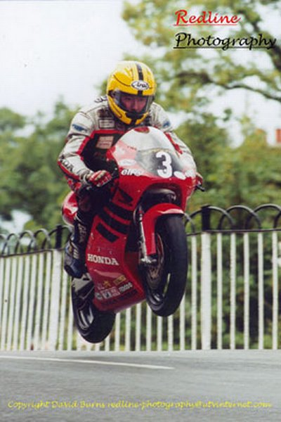 Joey Dunlop at Ballaugh Bridge