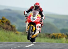 Thumbnail of Gary Johnson during practice for the 2008 TT