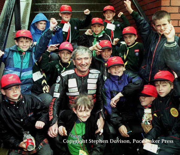 With the scouts in 1998