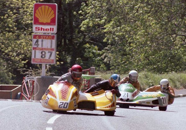 1983 TT Race B - 9th Milestone - Keith Newman is the passenger
