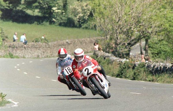 1984 Classic TT - Towers Bends - Tony Rutter in background
