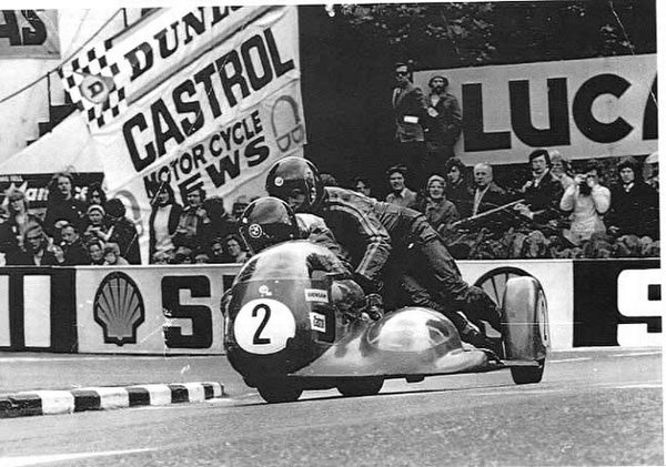 1974 Sidecar TT at Quarter Bridge