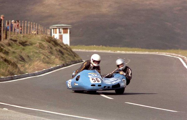 1984 Sidecar TT - Bungalow - Geoff Knight is in the chair