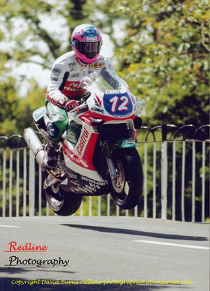 Jim Moodie at Ballaugh Bridge - TT 2000
