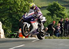 Thumbnail of Ian Lougher during practice for the 2008 Isle of Man TT