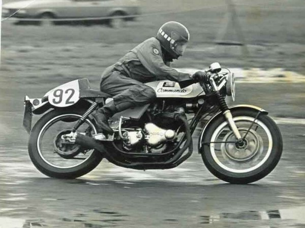 Flip in short circuit action on his Norton