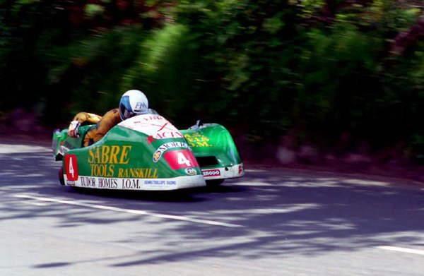 1990 Sidecar TT with Nick Roche in chair