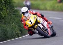 Thumbnail of Guy Martin during the second practice session of the 2008 TT
