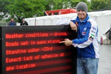Thumbnail of John McGuinness shows why the third practiec session for the 2008 TT was a washout