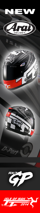 Arai RX-7GP 2014 Isle of Man TT