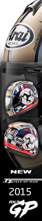 Isle of Man TT 2015 - Arai RX-7GP