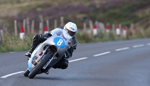 Danny Webb on the Molnar Manx Norton at Classic TT 2015 - Dave Kneen