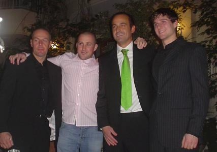 Mark Cox, Nick Crowe, Tim Reeves and Patrick Farrance at a fundraising function (JDF)