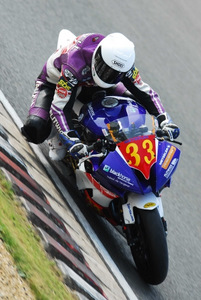 Olie Linsdell in action at Silverstone (courtesy Flitwick Motorcycles)