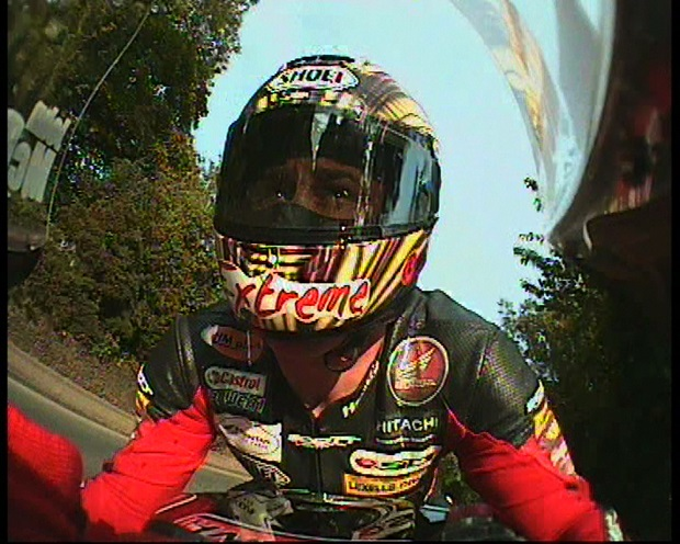 A screen grab from the John McGuinness on-board lap download