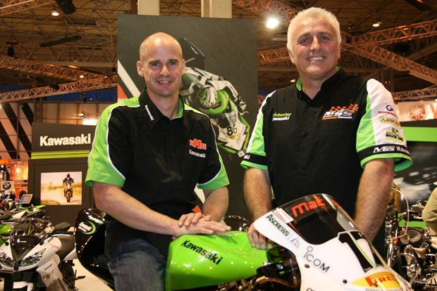 Ryan Farquhar and MSS Colchester Kawasaki team boss Nick Morgan