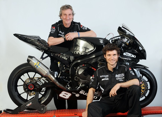 Philip Neill and Guy Martin (TAS Suzuki)