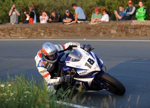 Dan Kneen in action at the Isle of Man TT
