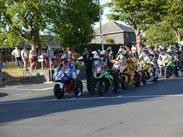 John McGuinness gets his 2012 Isle of Man TT under way