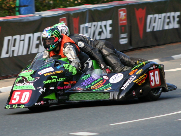Debbie Barron, winner of the Susan Jenness Trophy in 2012, in action during the 2012 Isle of Man TT fuelled by Monster Energy