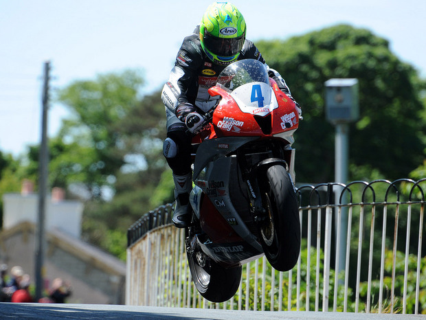 Cameron Donald in action at the Isle of Man TT