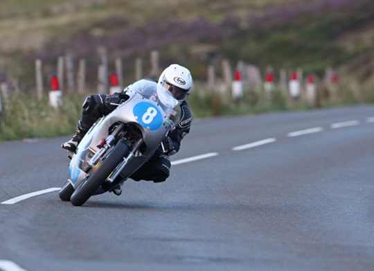 Danny Webb flying on the Team Molnar Manx 350cc