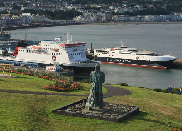 The Isle of Man Steam Packet Company's Ben-my-chree and Manannan in Douglas harbour