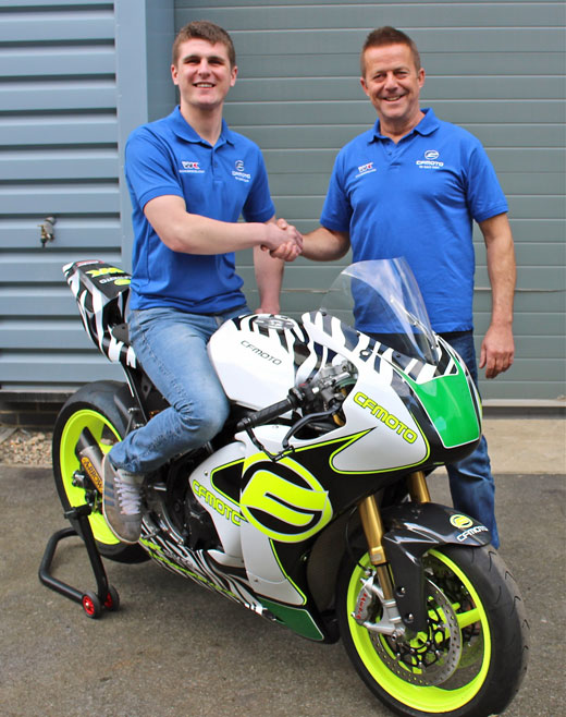Craig Neve joins the WK Bikes CFMoto Factory team for the 2016 Isle of Man TT Bennetts Lightweight race