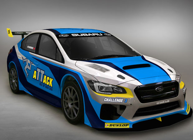 Subaru TT 2016 lap record challenger front three quarters view