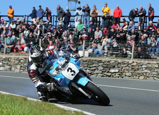 Michael Dunlop at Creg-ny-baa on his way to winning the Motorsport Merchandise Superbike Classic TT