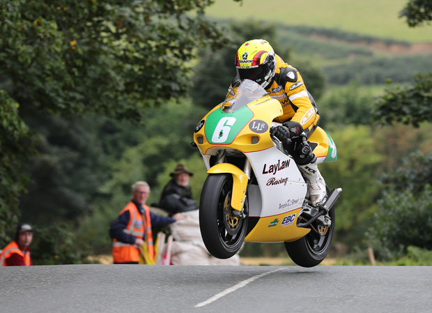 Ian Lougher tackles Ballaugh Bridge