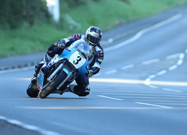 Michael Dunlop on the big Suzuki at Signpost