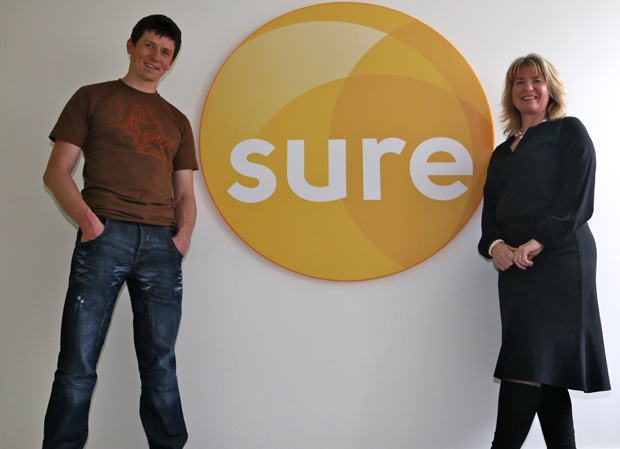 Dan Kneen with Sure Marketing Manager Sarah Jarvis