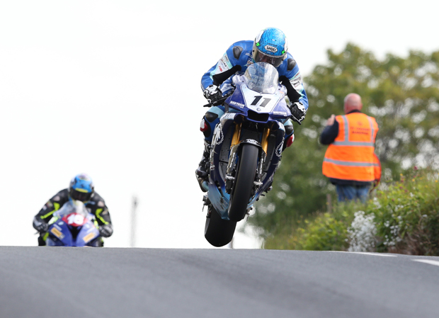Dean Harrison riding the Mar-Train Racing Yamaha R1M at TT 2015