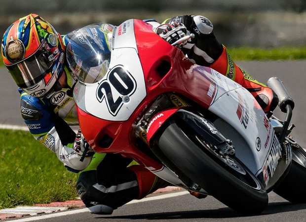 Dan Cooper gets in some practice time on the Turner Racing TZ Yamaha