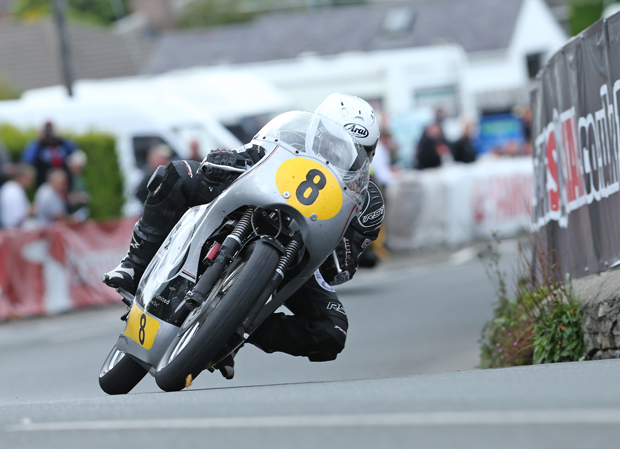 Danny Webb at Ginger Hall on a Molnar Manx 350cc Norton