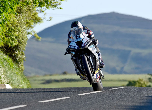 Credit Dave Kneale/DukeVideo.com - Michael Dunlop showed superb form as he swept to a 131.574mph lap in Wednesday's qualifying session