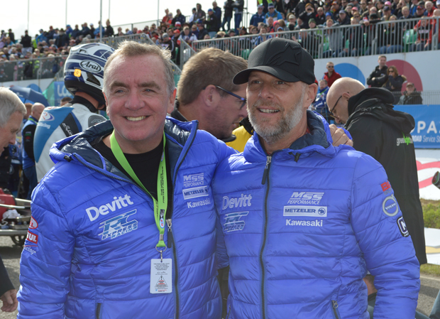 Ian Ayre in Devitt RC Express Racing livery