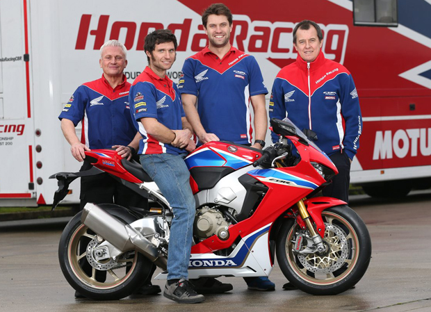 Neil Tuxworth, Guy Martin, Johnny Twelvetrees, John McGuinness - The Honda 2017 dream team