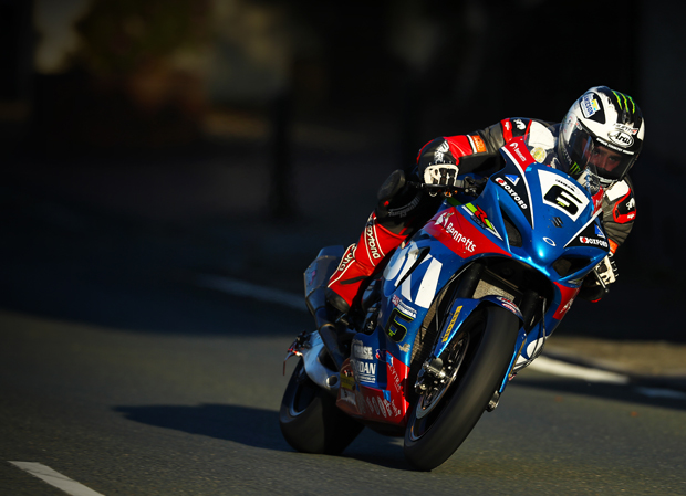 Michael Dunlop on the Bennetts Suzuki GSXR on the first night of qualifying at TT 2017