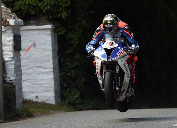 Peter Hickman in Superstock Qualifying