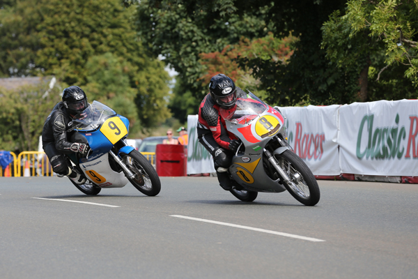 Alan Oversby leads James Coward