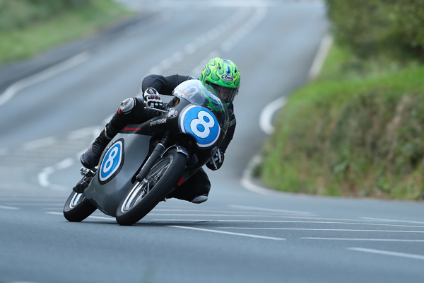 Cameron Donald on the McIntosh Racing Petty Manx Norton 350cc. Picture by Dave Kneen / Pacemaker Press Intl.