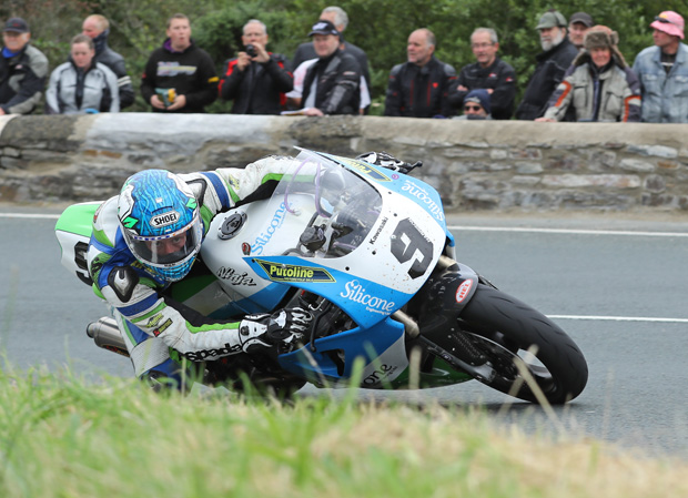 Dean Harrison on his way to winning the Motorsport Merchandise Superbike Classic TT Race