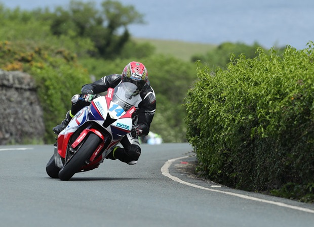 Dan Kneen at Waterworks in the 2017 Isle of Man TT Races
