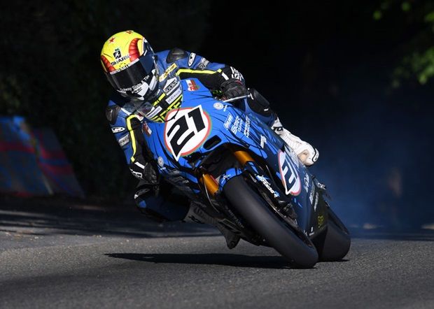 Ian Lougher at Greeba Castle in 2016 aboard the Suter MMX500