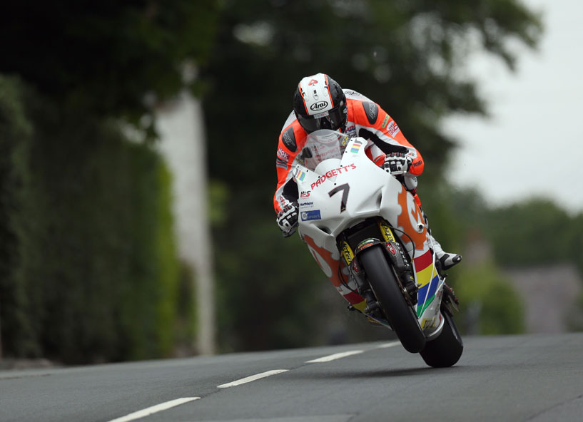 Conor Cummins in action on the Padgett's Fireblade at TT 2017